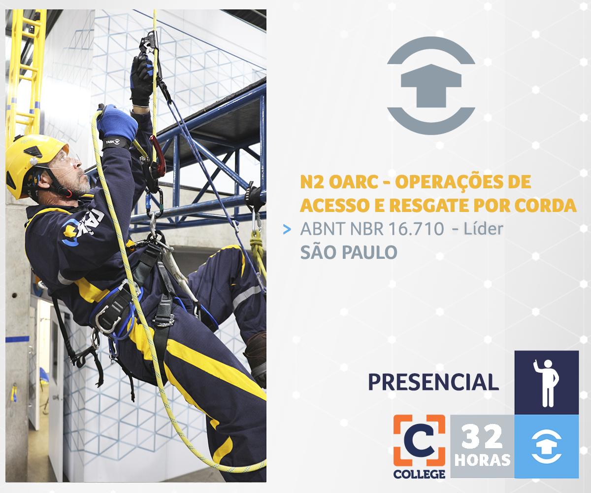 N2 OARC - OPERAÇÕES DE ACESSO E RESGATE COM CORDAS (Líder) - São Paulo