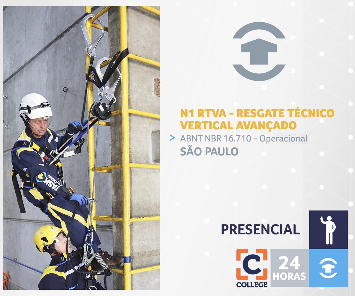 N1 RTVA -  RESGATE TÉCNICO VERTICAL AVANÇADO (Operacional) - São Paulo