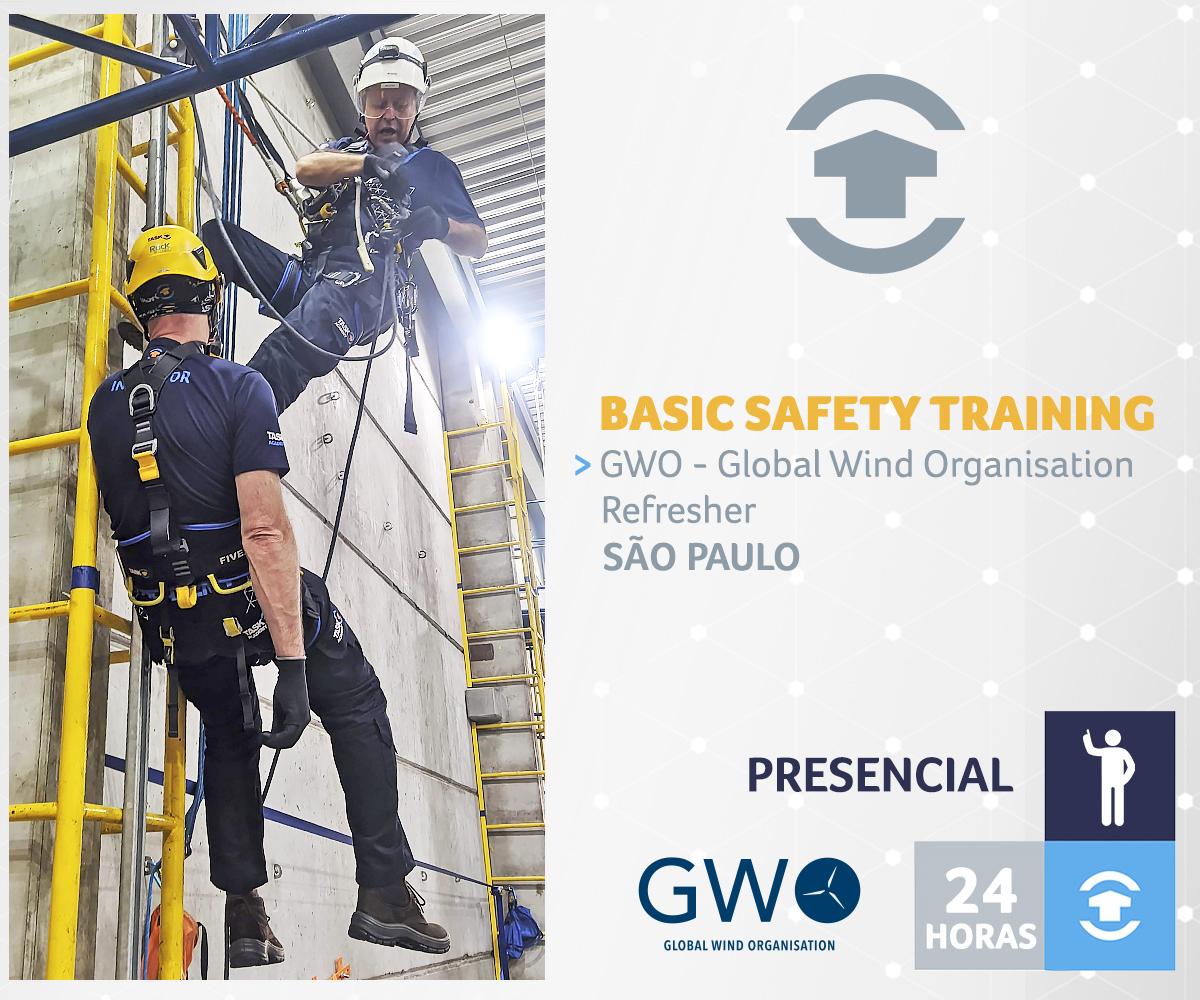 GWO - BASIC SAFETY TRAINING REFRESHER - São Paulo